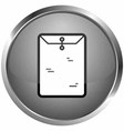 place letter icon vector image vector image