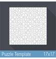Puzzle Template vector image