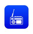radio icon digital blue vector image vector image