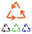 recycle arrows flat icon vector image vector image