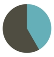 Round gray diagram infographics flat style vector image vector image