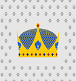 Royal Crown of gold with precious stones vector image vector image