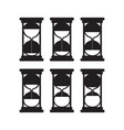 set black silhouettes hourglasses vector image vector image