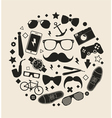 set fashionable mens accessories vector image vector image
