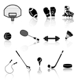 set sport objects vector image