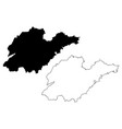 shandong province map vector image vector image