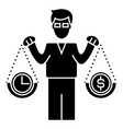 smart investment icon sig vector image