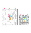 square maze labyrinth game for kids with icecream vector image vector image