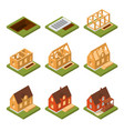 stage construction house set isometric view vector image vector image