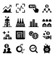 stock market stock exchange icons vector image