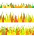 The set seamless of autumn grass vector image vector image