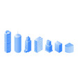 urban architecture isometric set vector image vector image
