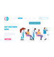 vaccination landing medical treatment prevention vector image vector image