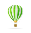 white and green hot air ballon isolated vector image vector image