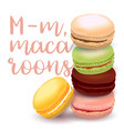 with different flavors of macaroons