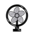 drawing electric fan appliance air device vector image