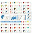 country stickers vector image