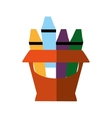 crayons box isolated icon vector image