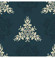 Heraldic seamless floral pattern vector image