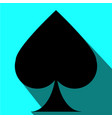 playing card spade symbol art vector image