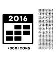 2016 Month Organizer Icon vector image