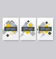 abstract brochures design vector image vector image