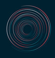 abstract circles lines swirl pattern on dark blue vector image