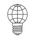abstract globe bulb vector image vector image