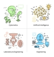 Artificial Intelligence Icon Set vector image vector image