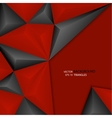 Background of black and red triangles volume vector image