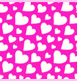 beautiful pink pattern with hearts vector image