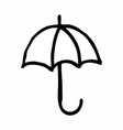black and white umbrella vector image vector image
