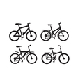 black bicycle vector image