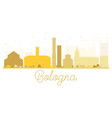 Bologna City skyline golden silhouette vector image vector image