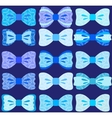 Bows collection vector image