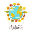 cartoon autumn trees vector image vector image