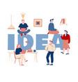 creative idea research concept businesspeople vector image