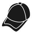 cricket cap icon simple style vector image