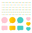 Cute colorful set collection of design elements vector image vector image