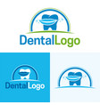 dental icon and logo vector image vector image
