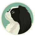 dog collection japanese chin avatar icon round vector image