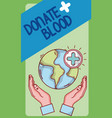 donate blood card vector image vector image