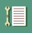 flat icon design collection wrench and grille in vector image vector image
