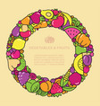 fun image of vegetables and fruit in the form of vector image vector image