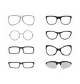 Glasses isolated set