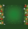 green christmas background with realistic tree vector image vector image