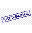 grunge made in bulgaria rectangle stamp vector image vector image