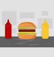 hamburger cartoon vector image vector image
