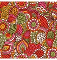 Hand drawn seamless pattern with floral elements vector image vector image