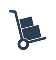 handcart icon on white background vector image